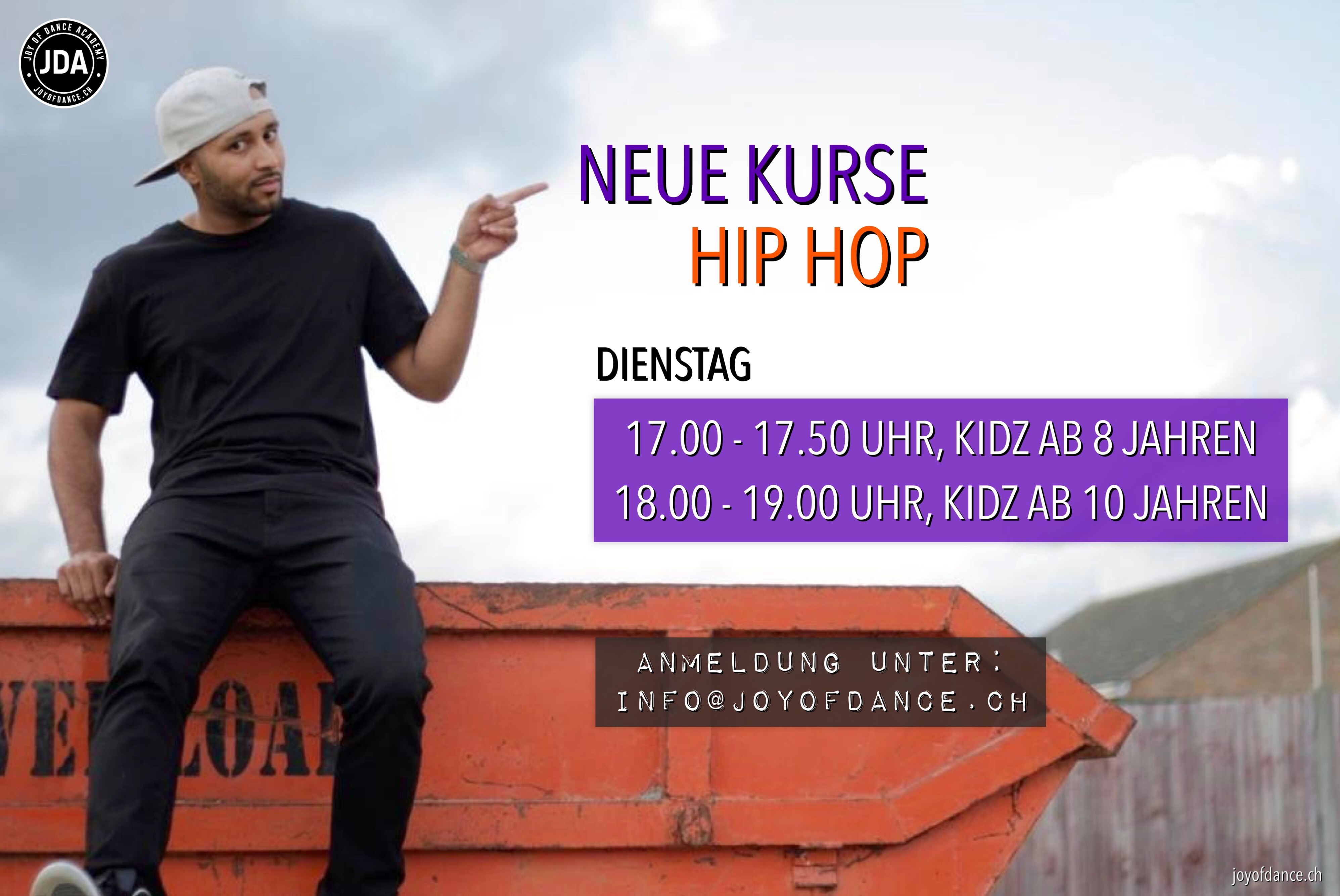 Banner Hip Hop new classes JDA joyofdance.ch
