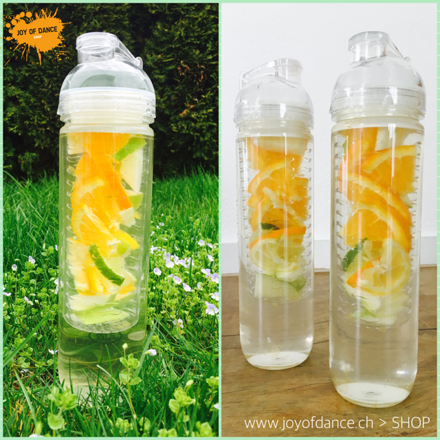 Fruit Infuser Trinkflasche transparent Shop joyofdance.ch